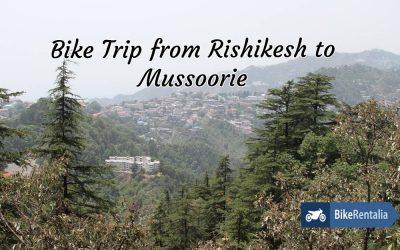 Bike Trip From Rishikesh To Mussoorie