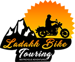 ladakh bike touring - bike on rent